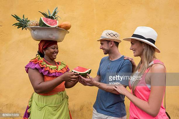Couple of tourists in Cartagena