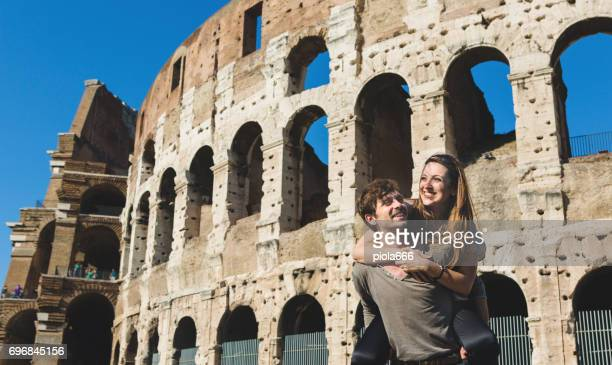 Couple of tourists in Rome