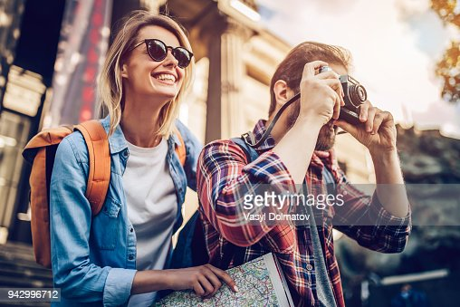 Couple of tourists : Stock Photo