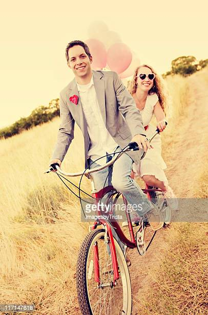 Couple on a Beach Cruiser