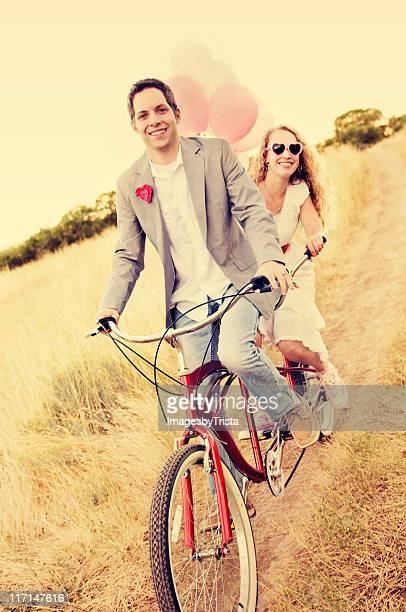 Paar auf einer Strand-Cruiser