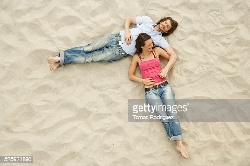Couple on a Beach : Stockfoto