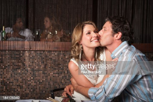 A couple on a date : Stock Photo