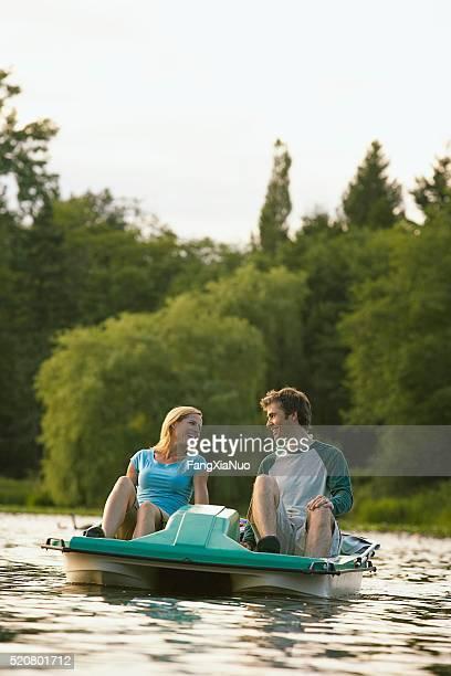 Couple on a lake