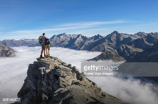 Couple on a mountain top