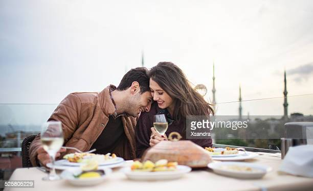 Couple on a romantic date