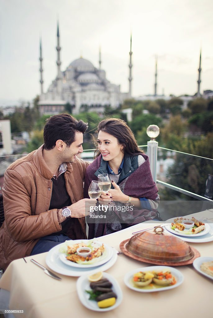 Couple on a romantic date : Stock Photo