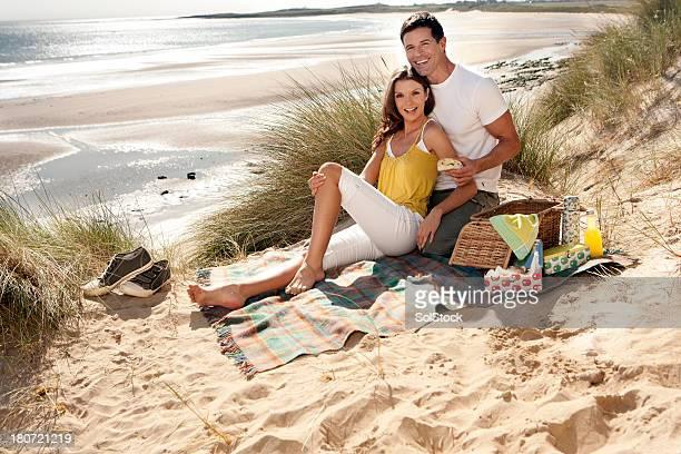 Couple on a sand dune
