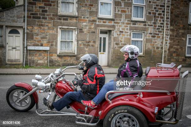 A couple on a trike bike drive through Camborne on July 24 2017 in Cornwall England Figures released by Eurostat in 2014 named the British county of...
