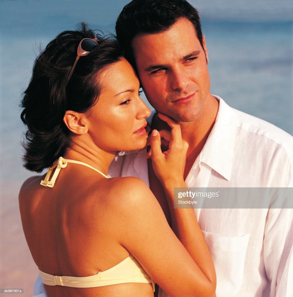 Couple on Beach : Stock Photo