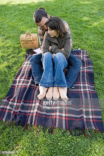 Couple on blanket