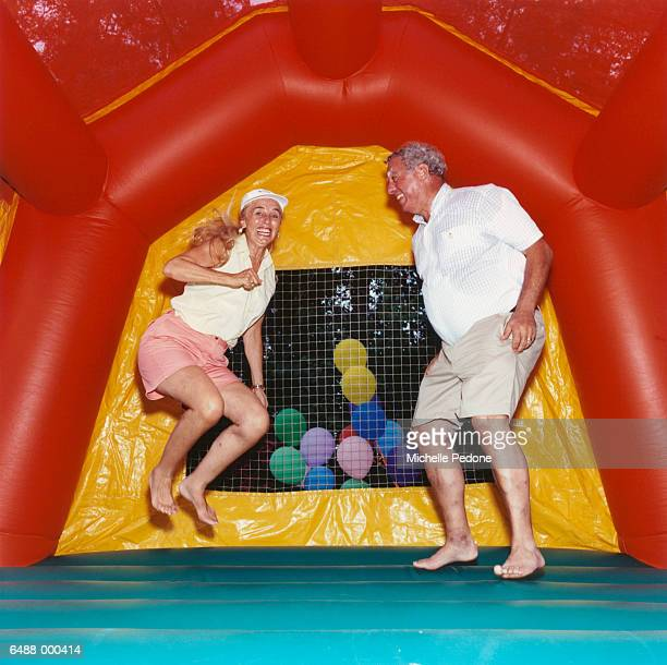 Couple on Bouncy Castle