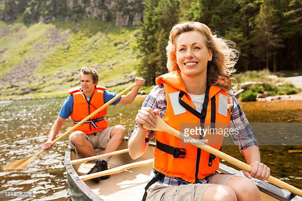 Couple On Canoe Trip