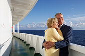 Couple on Cruise Ship Hugging