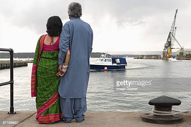 Couple on harbour