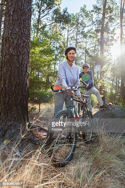 Couple on Mountain Bikes