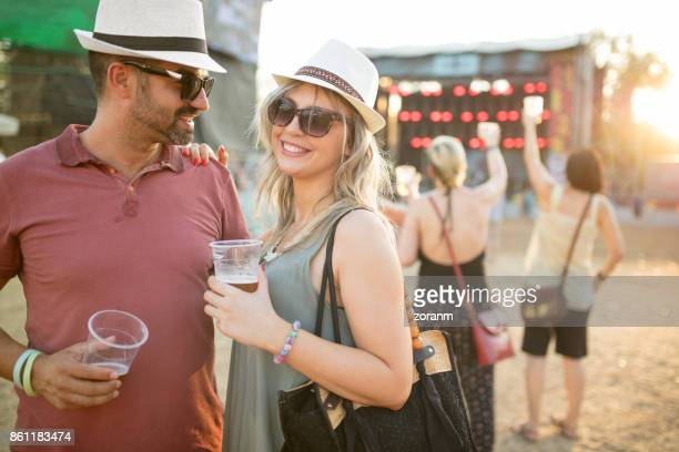 Couple on music festival