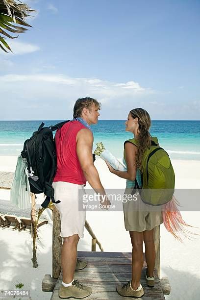 Couple sur la plage de paradise
