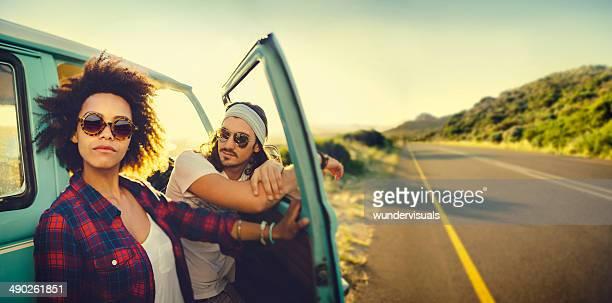 Paar auf roadtrip