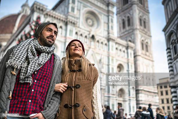 couple on the city of Florence for christmas