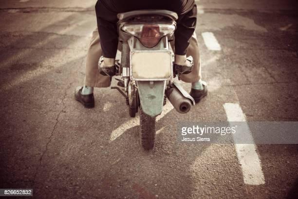 Couple on the motorcycle, Cat Ba island, Vietnam.