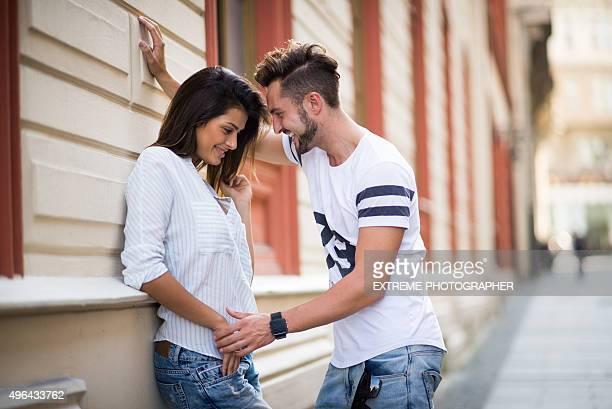 Couple sur la première date