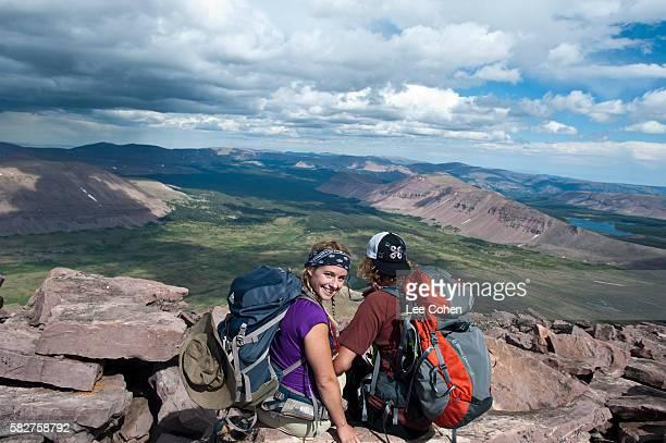 Couple on top of King's Peak