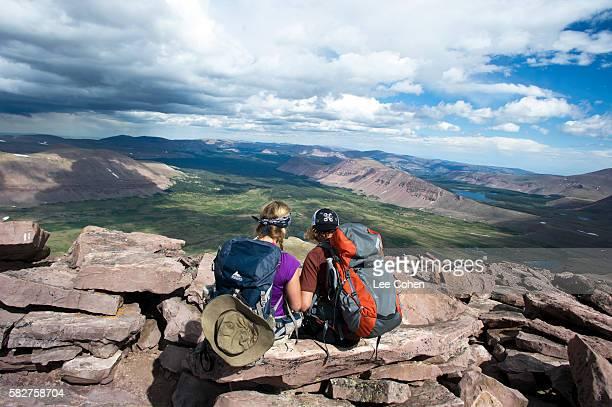 Couple on top of Kings Peak, Utah