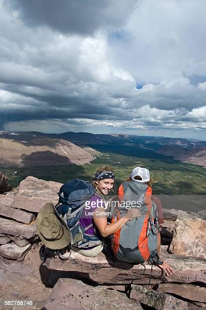 Couple on top of King's Peak, Utah
