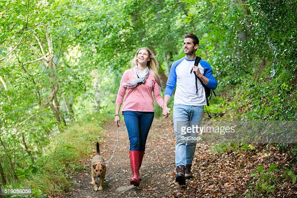 Couple out for a walk