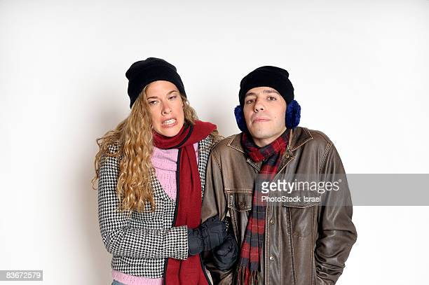 Couple out in the cold