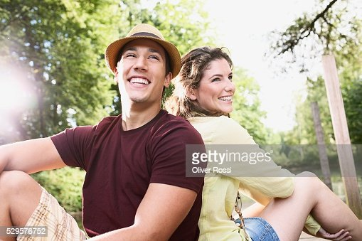 Couple Outside : Stock Photo