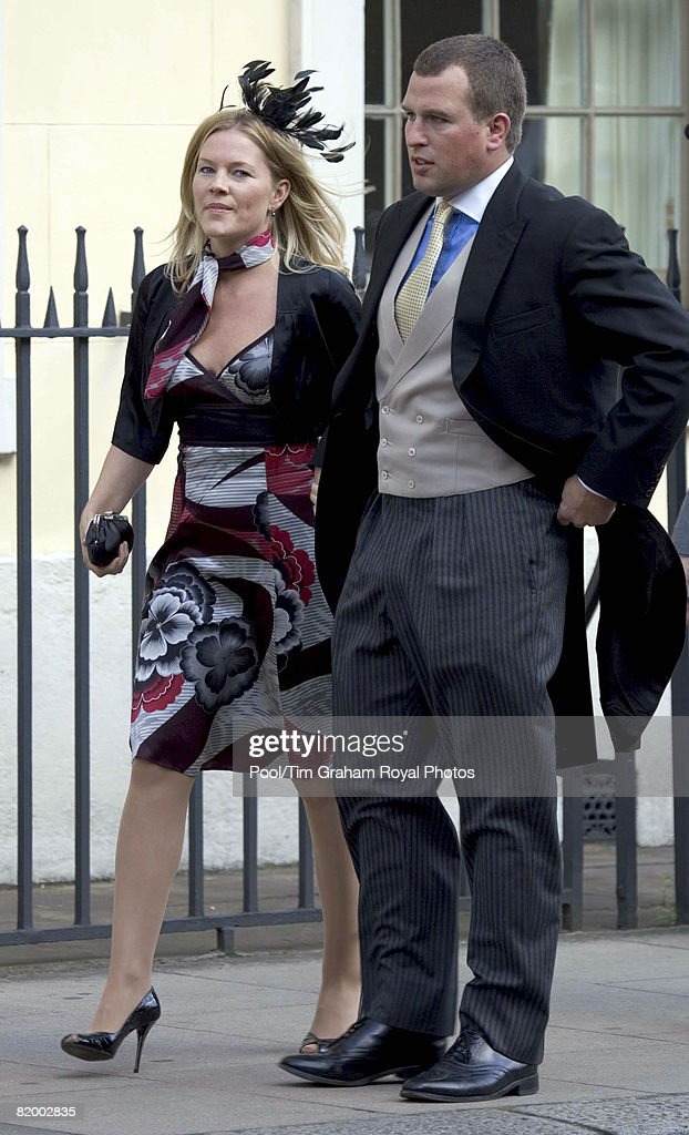 Couple Peter Phillips and his wife Autumn (Kelly) attend the wedding of Lady Rose Windsor and George Gilman at the Queen's Chapel near St James's Palace on July 19, 2008 in London, England.