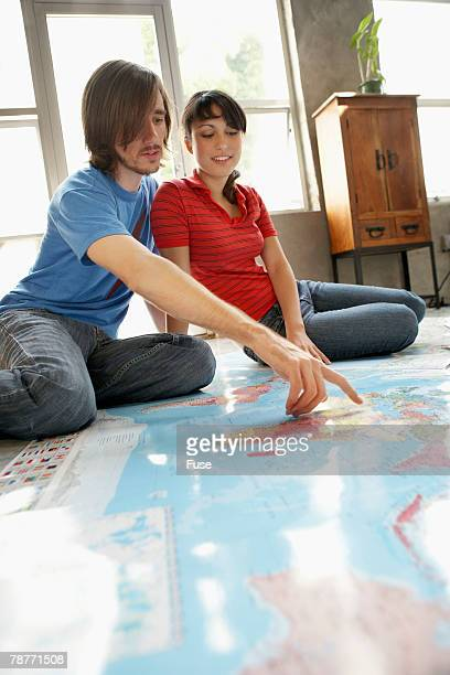 Couple Planning a Vacation