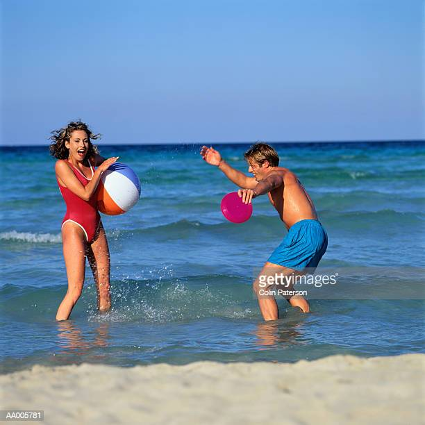 Couple Playing in the Sea