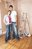 Couple Preparing to Paint Room