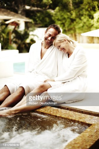 A couple relaxing at a spa. : Stock Photo