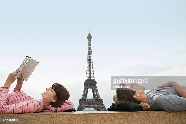 Couple Relaxing in Paris