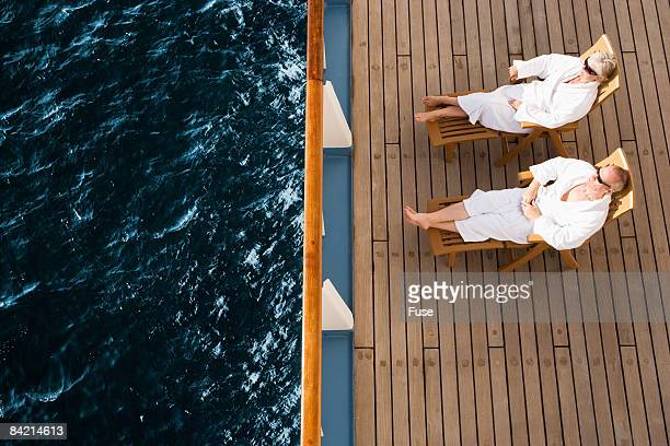 Couple Relaxing on Ship