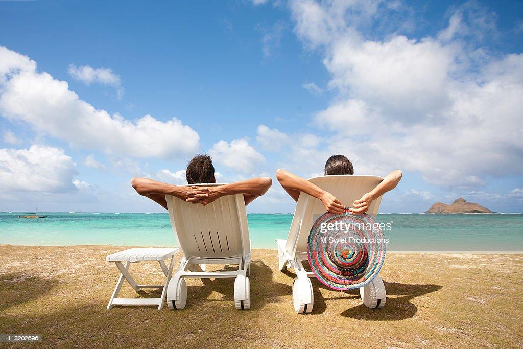Couple relaxing : Stock Photo