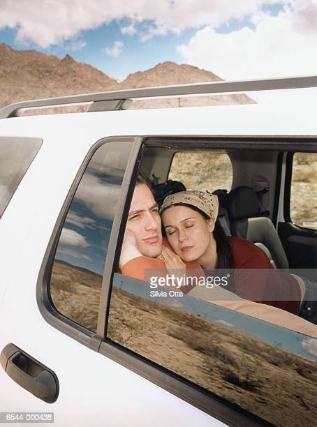 Couple Resting in Automobile
