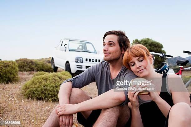 Couple resting