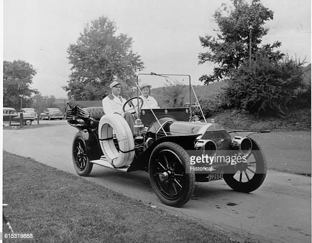 Couple Riding in 1909 Pierce Arrow