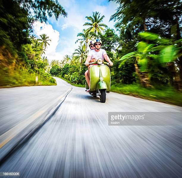 Coppia biciclette equitazione retrò