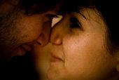 Couple rubbing their noses