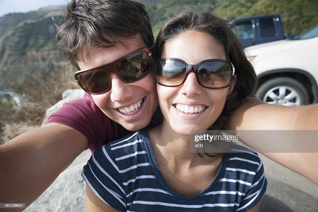 Couple Self Portrait, Road Trip