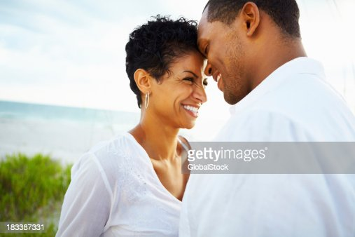 Couple sharing a romantic moment