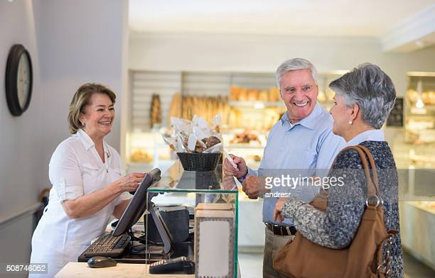 Couple shopping at the bakery