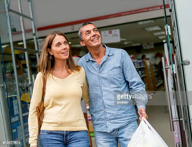 Couple shopping at the pharmacy