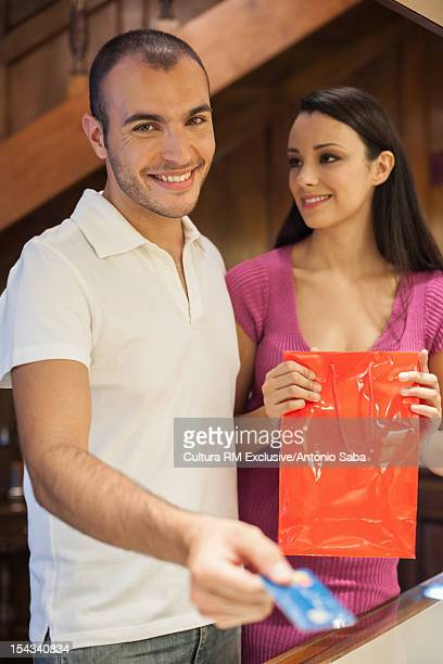 Couple shopping for jewelry together